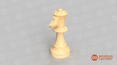 Reine cavalière modélisée par Moebius Factory