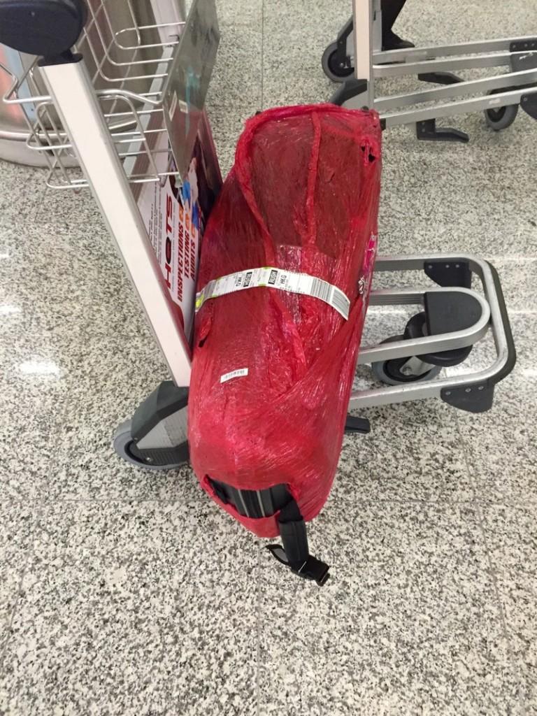 Le prototype de Moebius Factory bien protégé dans son emballage...
